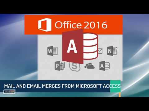 Performing a Mail Merge and eMail Merge from Microsoft Access 2016