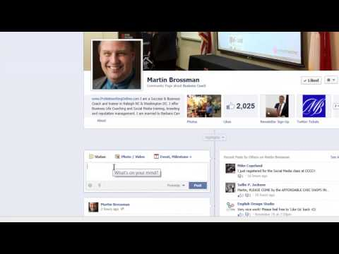 Mention another business in your Business Facebook page, adding a link and a photo.