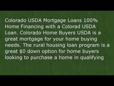 100% Financing for Colorado USDA Loans | CO USDA Loans