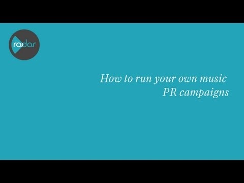 How to run your own music PR campaign