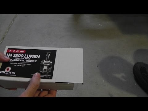 How to install Cyclops LED bulb onto a DRZ400