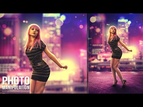 Colorful Night Bokeh Effects Photo Manipulation Concept in Photoshop CC