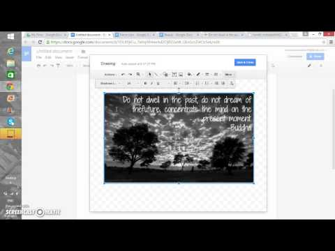 How to Write in a Picture on Google Docs