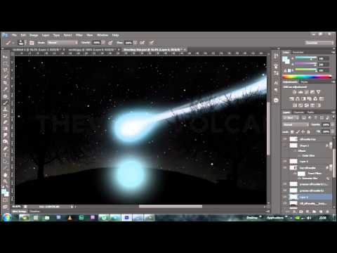 Photoshop Shooting Star Speed Art
