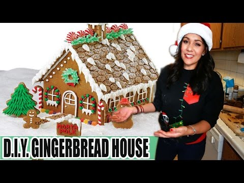 HOMEMADE GINGERBREAD HOUSE D.I.Y.  - #TastyTuesday