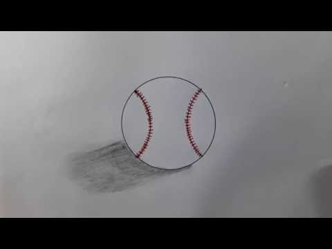 How to Draw a Baseball - Step By Step