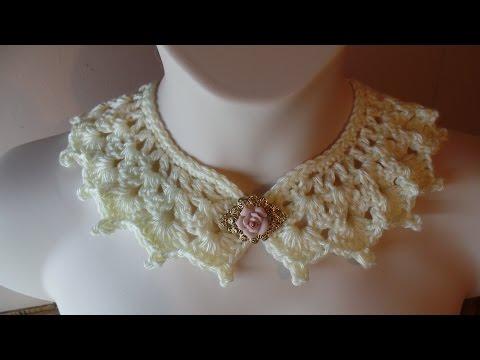 CROCHET How to #Crochet Victorian Style Collar Necklace #TUTORIAL #226 LEARN CROCHET