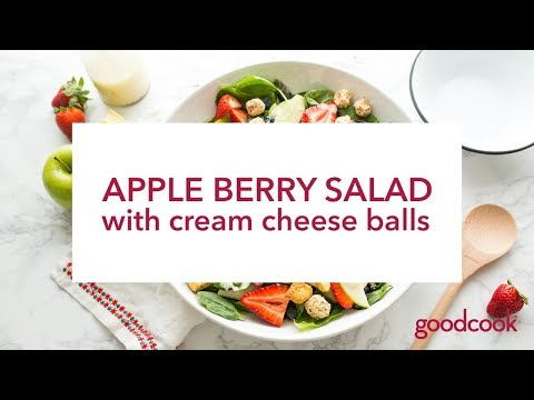 Apple Berry Salad with Cream Cheese Balls