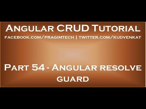 Angular resolve guard