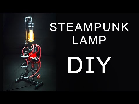 Steampunk DIY Industrial Pipe Lamp #4