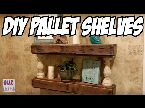 DIY Pallet Projects - How to Build Floating Pallet Shelves | Our House