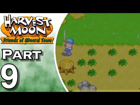 Let's Play Harvest Moon: Friends of Mineral Town (Gameplay + Walkthrough) Part 9 - Powered Up Axe