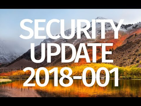 How to Update macOS High Sierra - Security Update 2018-001