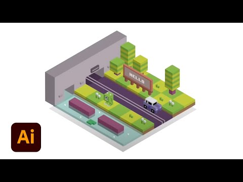 How to Make Isometric City (Crossy Road ) | Illustrator Tutorial