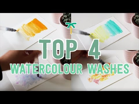 Top 4 Watercolour Techniques for Backgrounds and Textures with Brush Pens | Stationery Island