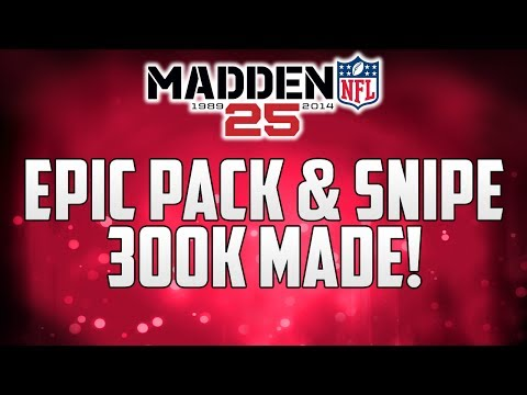 MUT 25 PS4 | Epic Pack and SNIPE | Madden 25 Ultimate Team