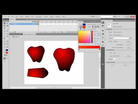 Beginning Drawing with Flash CS5 - Paint and Ink BottleTools, Gradients - Part2