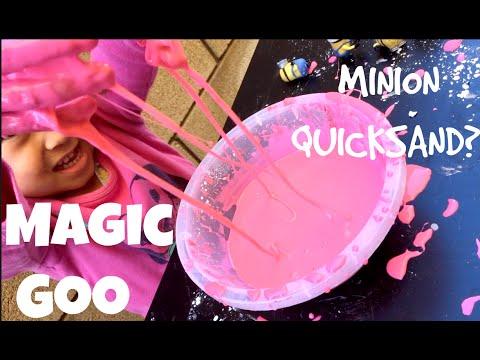 MAGIC GOO! Minion quicksand? Super Easy DIY recipe for kids!