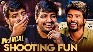 Download Full Fun with Sivakarthikeyan at Mr. LOCAL Sets : Sathish Reveals | Atharvaa Interview | Boomerang Video