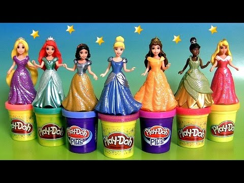 Xxx Mp4 Design A Dress For 7 Disney Princess MagiClip Toys Using Play Doh Sparkle 3gp Sex