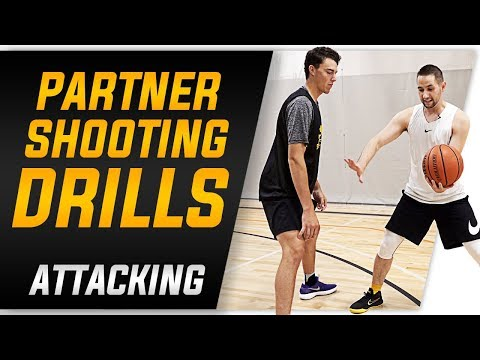 Partner Shooting Drills for Attacking Closeouts | Basketball Shooting and Coaching Drills