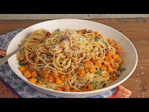 Carbonara with Squash and Pancetta Recipe   Episode 1207