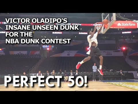 VICTOR OLADIPO'S INSANE UNSEEN DUNK  FOR THE  NBA DUNK CONTEST
