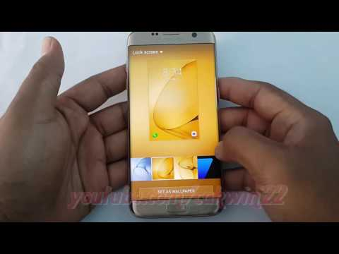 Samsung Galaxy S7 Edge : How to change Lock Screen and Home Screen Background (Android Marshmallow)