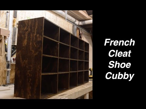 French Cleat Shoe Cubby!