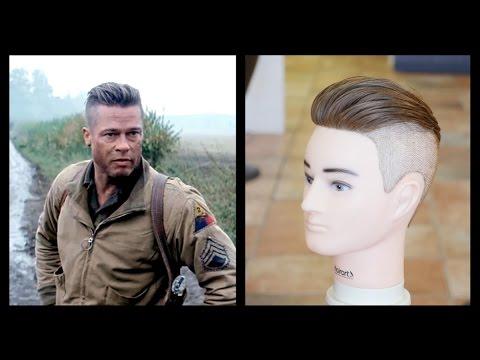 Brad Pitt Fury - Men's Haircut Tutorial - TheSalonGuy