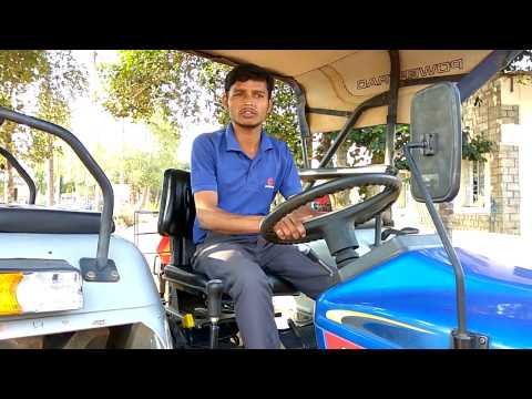 How to operate tractor hydraulics In Telugu Powertrac Euro 50