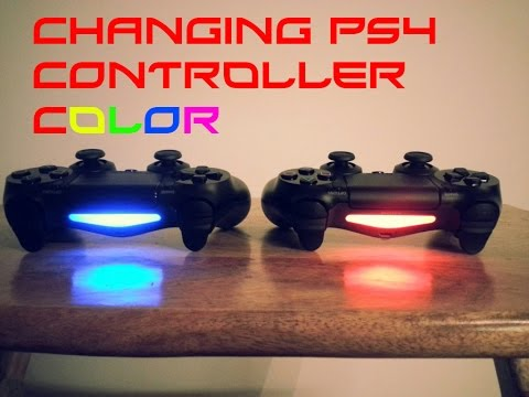 how to change dualshock 4 color - How To Change The Light Bar Colour On The Ps4