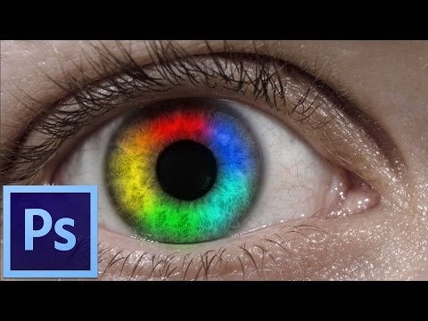 How to make a rainbow eye in Adobe Photoshop