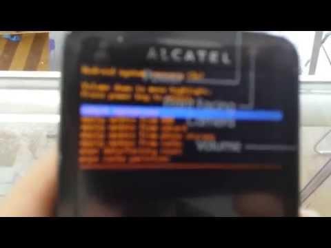 Hard reset for Alcatel evolve metro pcs