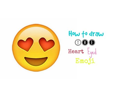 How to draw the heart eyed emoji