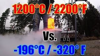 10kg of Red Hot Steel Vs. 15kg of Liquid Nitrogen!