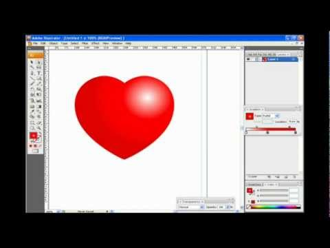 How to create a heart in Adobe Illustrator