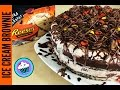 Peanut Butter LOVER Ice Cream Brownie Cake | Pinch of Luck