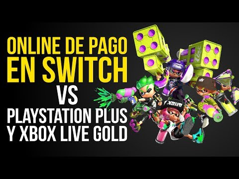 ONLINE DE PAGO EN SWITCH vs PLAYSTATION PLUS y XBOX LIVE GOLD