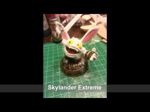 Skylanders Lost Islands Customs -  Hoppity Pop Fizz, Surfer Slam Bam, Fireworks Zook ++