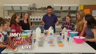 Jimmy Kimmel Makes Slime with Kids