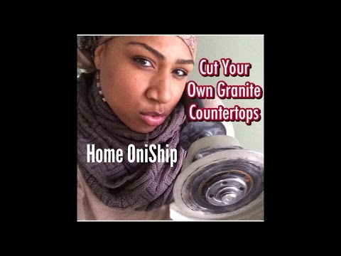Kiss my angle grinder: Cut your own granite countertops for an apron fron sink