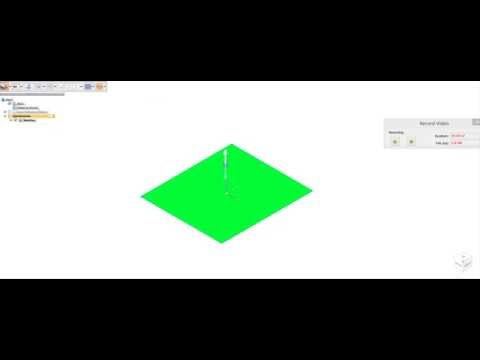 Making of a square in Solid Edge