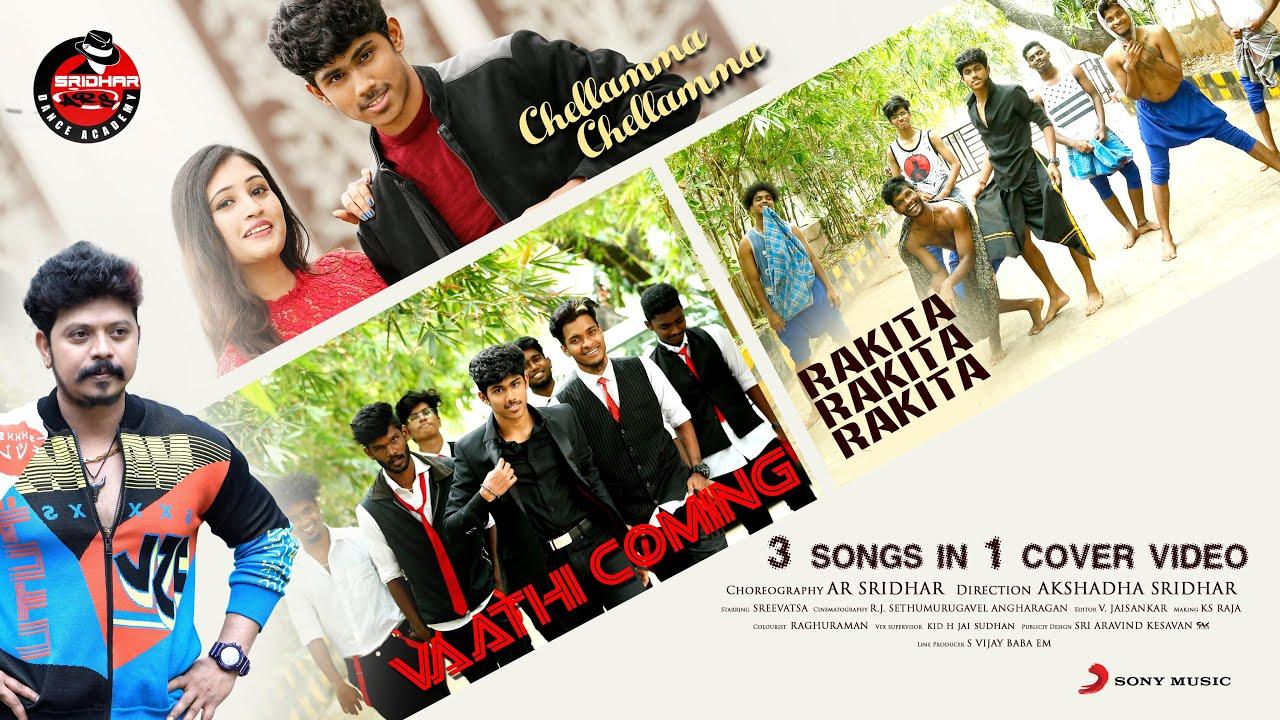 Vaathi Coming x Rakita Rakita x Chellamma DanceMashup | Sridhar Master | Anirudh | SanthoshNarayanan