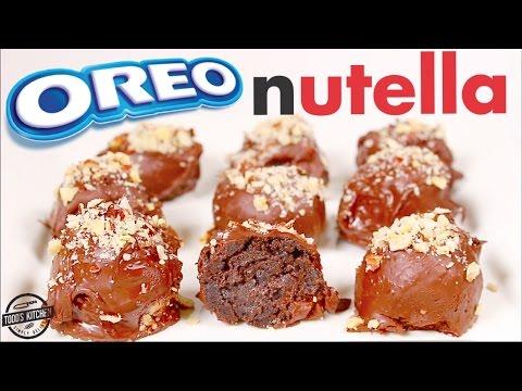 No Bake Oreo Nutella Truffles Recipe - DIY How to make