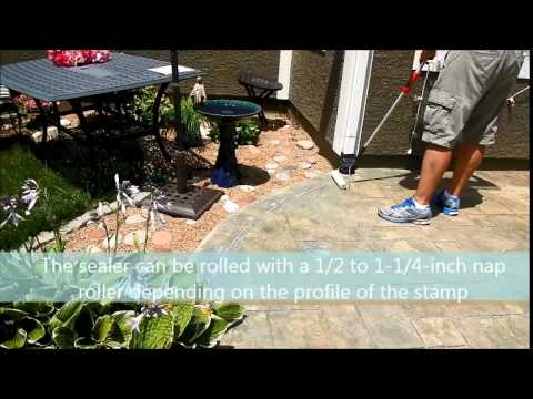 How to seal Stamped Concrete with E15 Sealer www.SealGreen.com