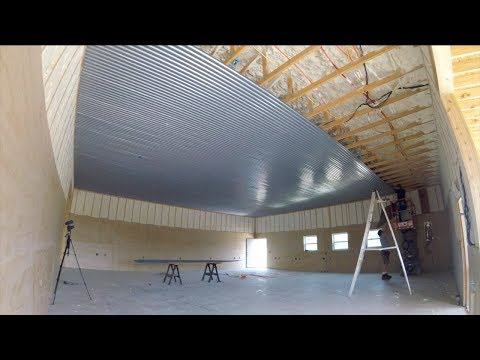 Installing Shop Walls and Ceiling