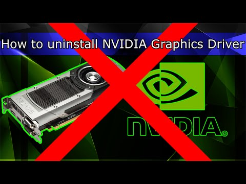How to uninstall NVIDIA Graphics Driver