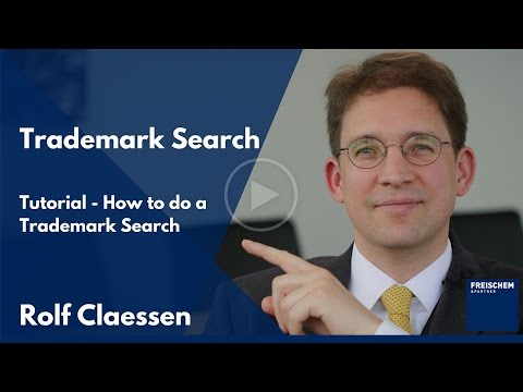 Trademark Search - How to do a trademark search for registered trademarks explained #rolfclaessen