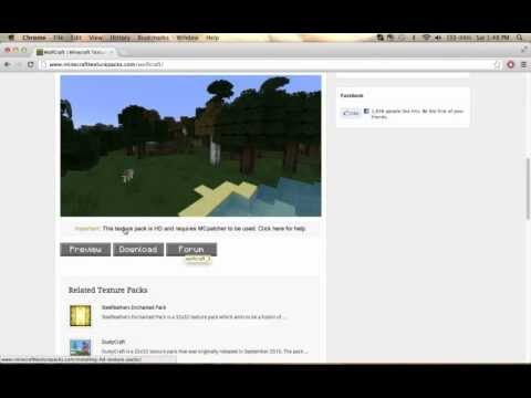 Minecraft how to download a texture pack ( Mac ) ( OUTDATED )